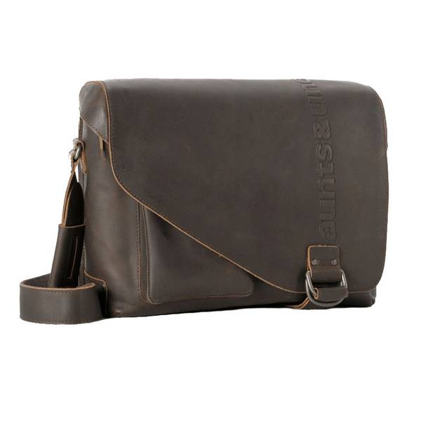Aunts And Uncles Medium Judd Postbag Vintage Brown